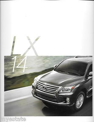 2014 14  Lexus LX original sales brochure