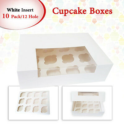 10 x 12 Hole Cupcake Box Window Face Cake Boxes Cake Boards Cupcake Boxes