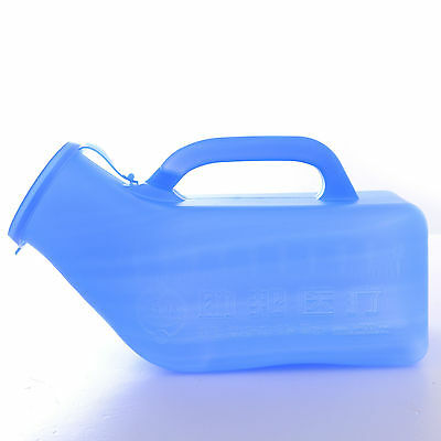 1000ML Male Sealed Urinal Urine Potty Pot Lid Bottle Pee Container Travel Aid