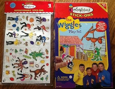 The Wiggles Colorforms Stick-Ons Play Set Puzzle 44 Pieces+Extra New Stick-Ons