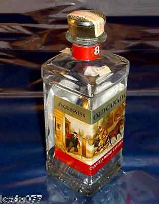 Vintage, 1969 McGUINNESS OLD CANADA 2 fl oz liq. WHISKY BOTTLE
