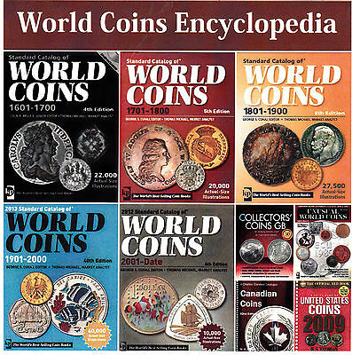Encyclopedia 2013 Updated Krause Standard Catalog of World Coins-5 Volumes DVD