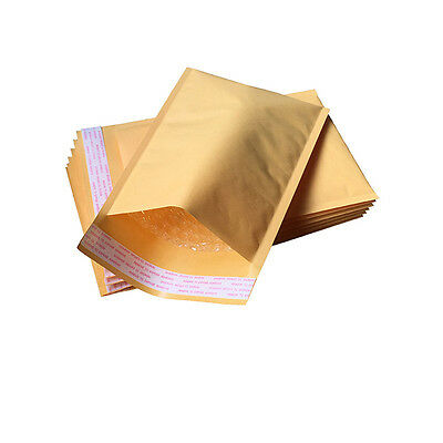 10PCS Golden Kraft Bubble Padded Shipping Envelope Mailers Bag New Hot