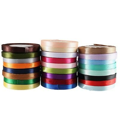 25 Yards Satin Ribbon Wedding Party Decoration Bow Craft Sewing Many Colors 10mm