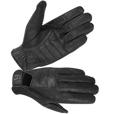 Hugger Men's Leather Summer Police Style Search Car Driving Gloves Full Finger