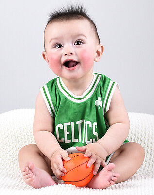 Baby Infant toddler NBA Romper Jumpsuit Jersey Celtics - Rondo #9