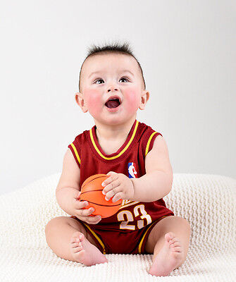 Baby Infant toddler NBA Jersey Romper Jumpsuit Cleveland Cavalier - James #23