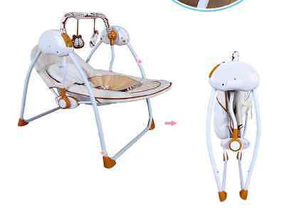 Security Collapsible Electric Rocking Chair Baby Music Rocking Swing Chair Fold