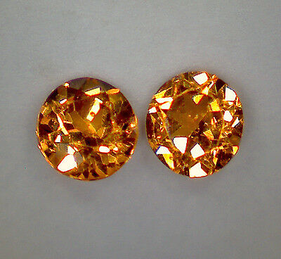 2 GRENAT HESSONITE taille rond 2,8 mm 0,21 cts paire - pierres précieuses fines