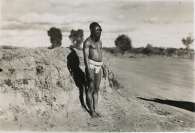 PHOTO VINTAGE : Personnage MASQUE - MADAGASCAR type du Sud IVATO 1936
