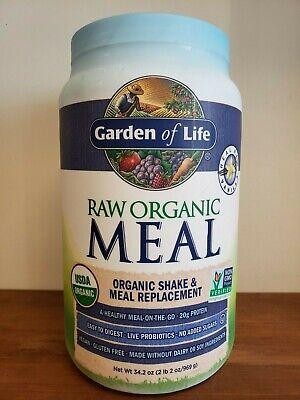 Garden Of Life Raw Meal Vanilla 34.2 oz Not Recalled Soy Free Dairy Free
