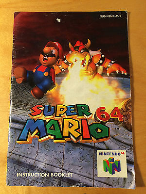 Super Mario 64 Instruction Booklet Manual ONLY (Nintendo 64, N64)