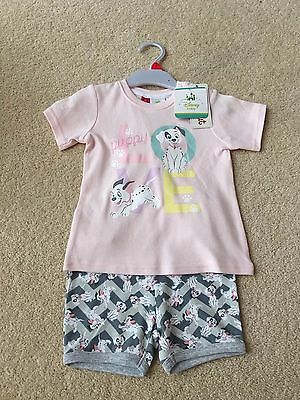 Brand New With Tags Sprout Disney Dalmation Summer Pyjamas Sleepwear Size 1