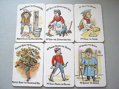 Antique Happy Families Glevum Games Robert Bros 1910-20 Excellent Playing Cards