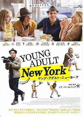 While We're Young Japanese Movie Ad Flyer mini Poster Ben Stiller, Naomi Watts
