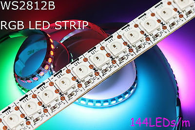 1m 144 RGB LED Strip  mit WS2812B 5050 SMD LEDs WS2812 144 LEDs/m