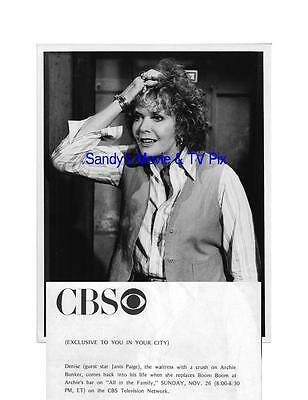 JANIS PAIGE Terrific Original TV Photo ALL IN THE FAMILY