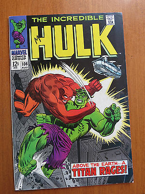 Incredible Hulk #106 (Aug 1968, Marvel) FN