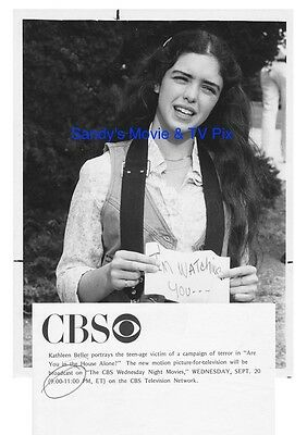KATHLEEN BELLER Terrific ORIGINAL TV Photo ARE YOU IN THE HOUSE ALONE