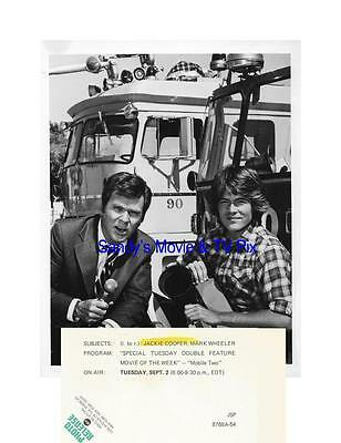 JACKIE COOPER, MARK WHEELER Terrific Original TV Photo MOBILE TWO