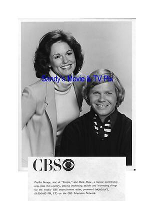 PHYLLIS GEORGE, MARK SHAW Terrific Original TV Photo PEOPLE