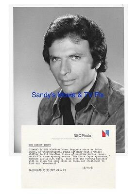 VINCENT BAGGETTA Terrific Original TV Photo THE EDDIE CAPRA MYSTERIES