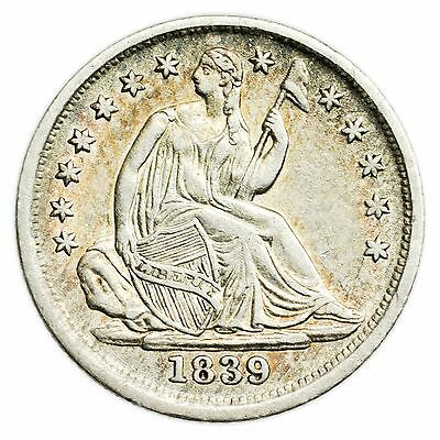 1839 Seated Liberty Half Dime Nice Small Silver Coin [1405.117]