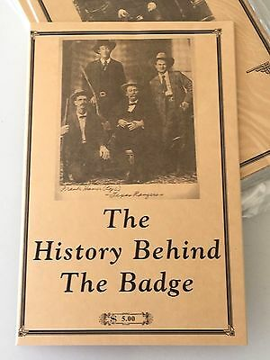 Badge Collector History Booklet Marshal Deputy Prison Brothel Police Sheriff