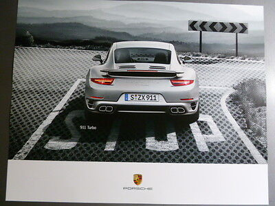 2014 Porsche 911 Turbo Coupe Showroom Advertising Sales Poster RARE Awesome L@@K