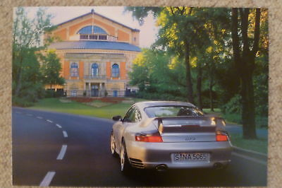 2002 Porsche 911 GT2 Coupe Showroom Advertising Sales Poster RARE!! Awesome L@@K
