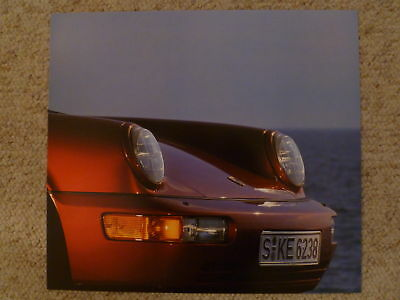 1990 Porsche Carrera 4 Cabriolet Showroom Advertising Poster RARE! Awesome L@@K