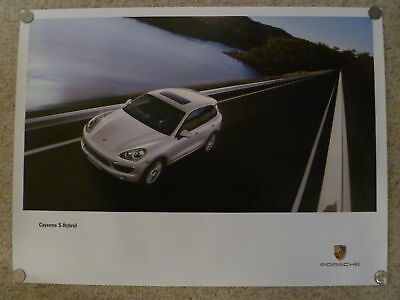 2010 Porsche Cayenne S Hybrid Showroom Advertising Sales Poster RARE!! Awesome