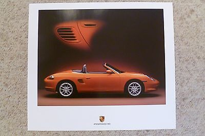 2004 Porsche Boxster Showroom Advertising Poster RARE!! Awesome L@@K