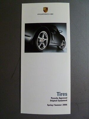 2006 Porsche Tires Showroom Sales Folder / Brochure Spring RARE!! Awesome L@@K