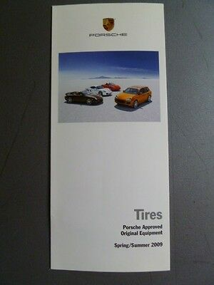 2009 Porsche Tires Showroom Sales Folder / Brochure Spring RARE!! Awesome L@@K
