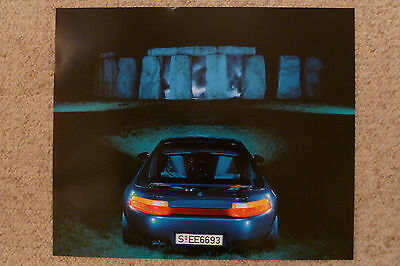 1992 Porsche 928 GTS Coupe Showroom Advertising Poster RARE!! Awesome L@@K