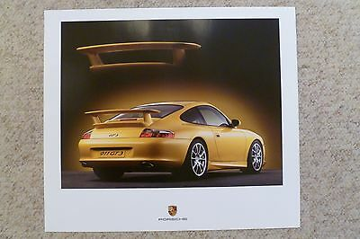 2004 Porsche 911 GT3 Coupe Showroom Advertising Sales Poster RARE!! Awesome L@@K