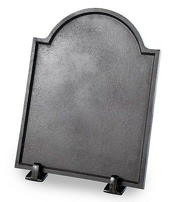 Small Cast Iron Plain Fireplace Fireback