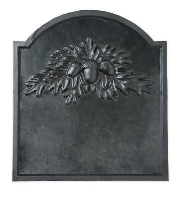 Cast Iron Fireplace Fireback w/ Oak Leaf Design