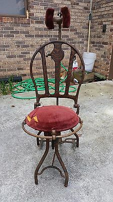 Rare Antique Adjustable Dentist Dental Chair Medical Quack Office & ANTIQUE DENTAL CHAIR - $450.00 | PicClick