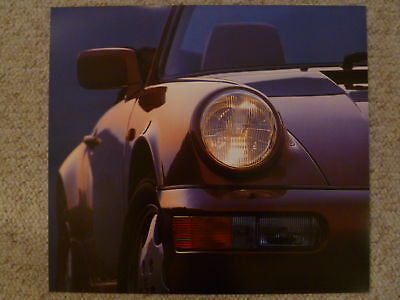 1990 Porsche  Carrera 2 Cabriolet Showroom Advertising Poster RARE! Awesome L@@K