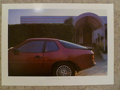 1984 Porsche 924 Coupe Showroom Advertising Poster RARE!! Awesome L@@K