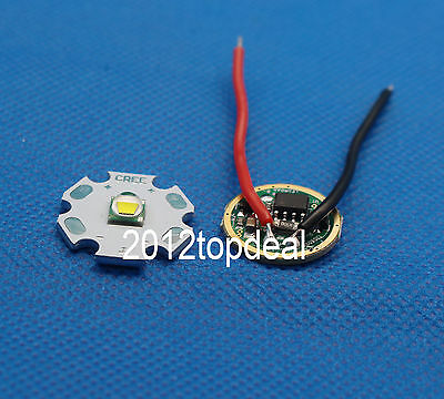 10W Cree XM-L T6 Warm White LED Light + DC 3.7V 2.5A XML LED Dimmer Driver DIY
