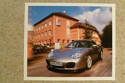 2001 Porsche 911 Turbo Showroom Advertising Poster RARE!! Awesome L@@K