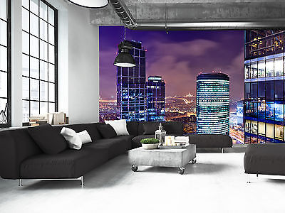 City view at Dusk Wall Mural Photo Wallpaper GIANT DECOR Paper Poster Free Paste
