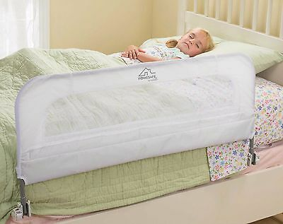 Summer Infant Kids Child Baby Folding Bedside Guard Single Bedrail Fall Safety