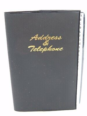 1 x Cumberland Black Address Book Clearview with White Tabs 125 x 95mm 741703*