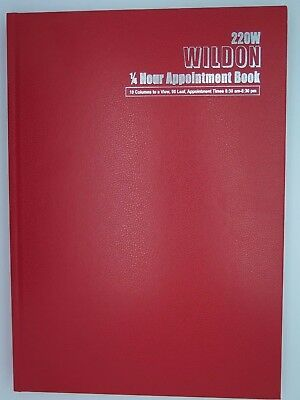 1 x Wildon Appointment Book 300 x 215mm 1/4hr 96 Sheets  220 WIL220^