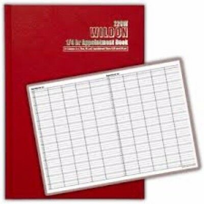1 x Wildon Appointment Book 300x215mm 1/4hr 56 Sheets WIL221