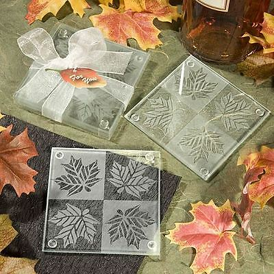 Set of 6 Autumn Themed Wedding & Party Coaster Favours